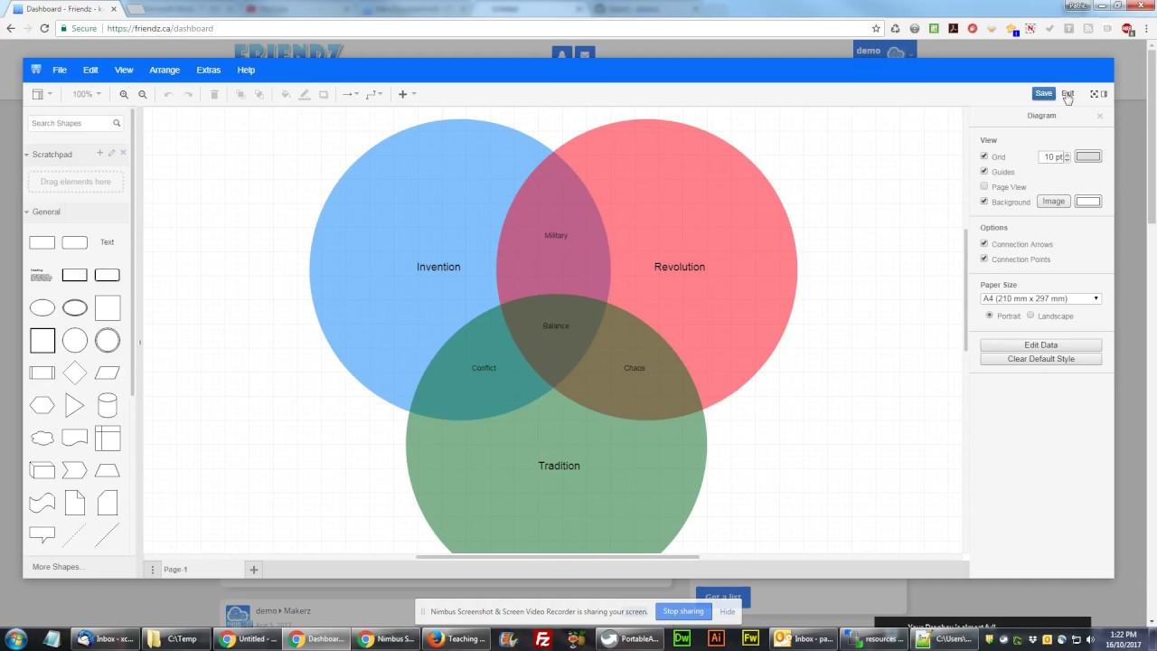Sharing a Diagram on the Friendz K-12 Social Network
