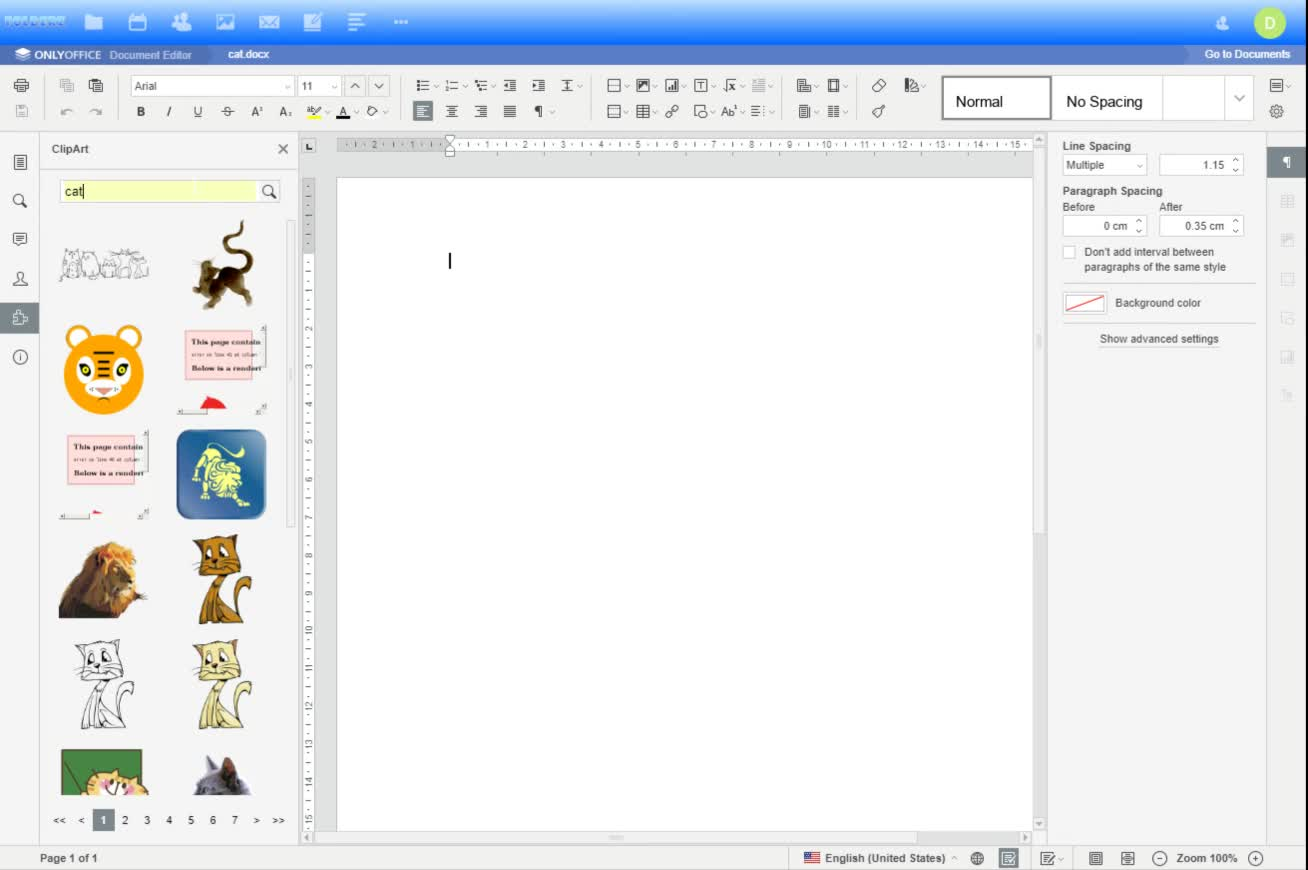 Creating a New Document in Folderz
