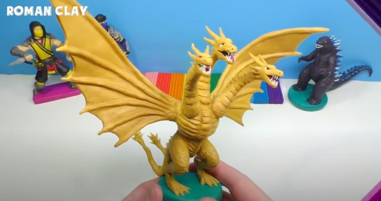 Making King Ghidorah from Clay | Godzilla