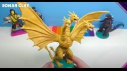 Making King Ghidorah from Clay | Godzilla